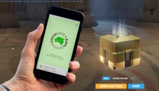 Covid Safe App with loot box